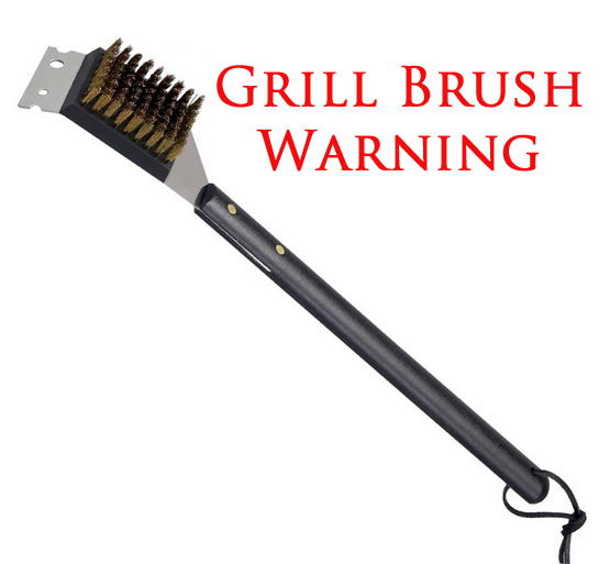 Grill Brush Warning