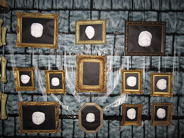 Doll faces in frames